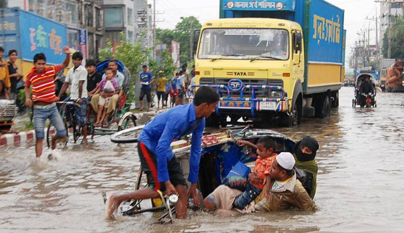 City life troubled by water logging